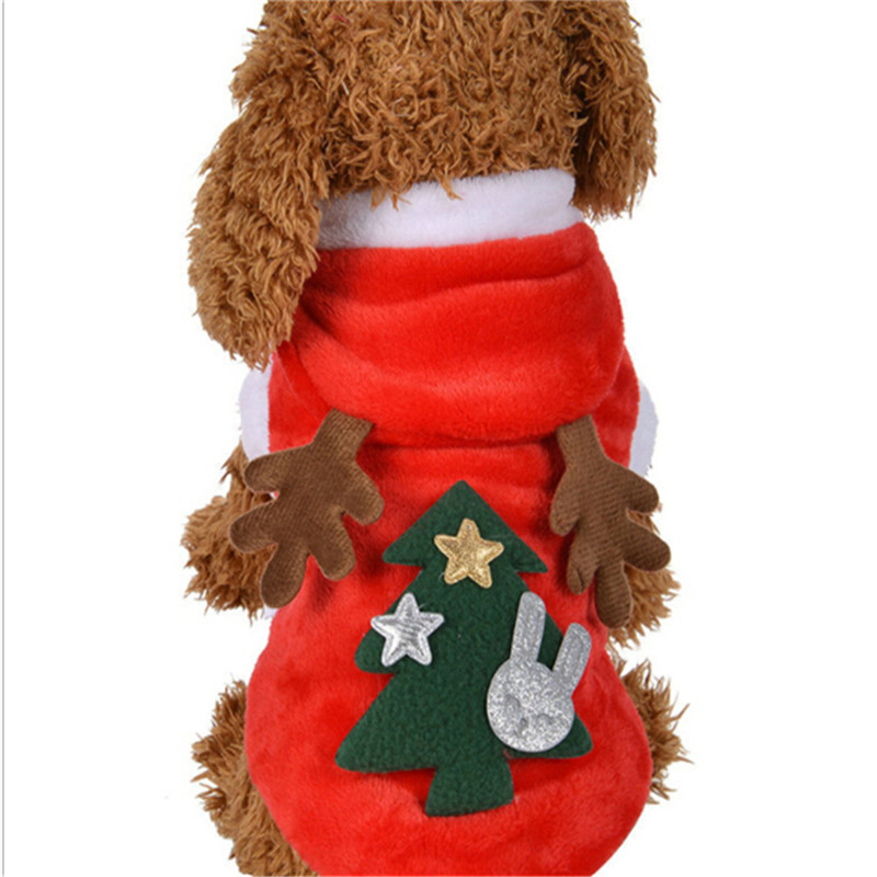 New Christmas Dog Clothes Winte Coat Santa Costume Pet Dog Christmas Clothes Cute Puppy Outfit For Dog