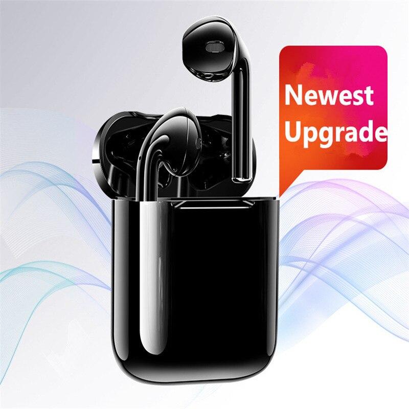 I12 technologie noire Air plus Bluetooth 5.0 écouteur Sport anti-transpiration sans fil empreinte digitale tactile écouteurs appel Binaural