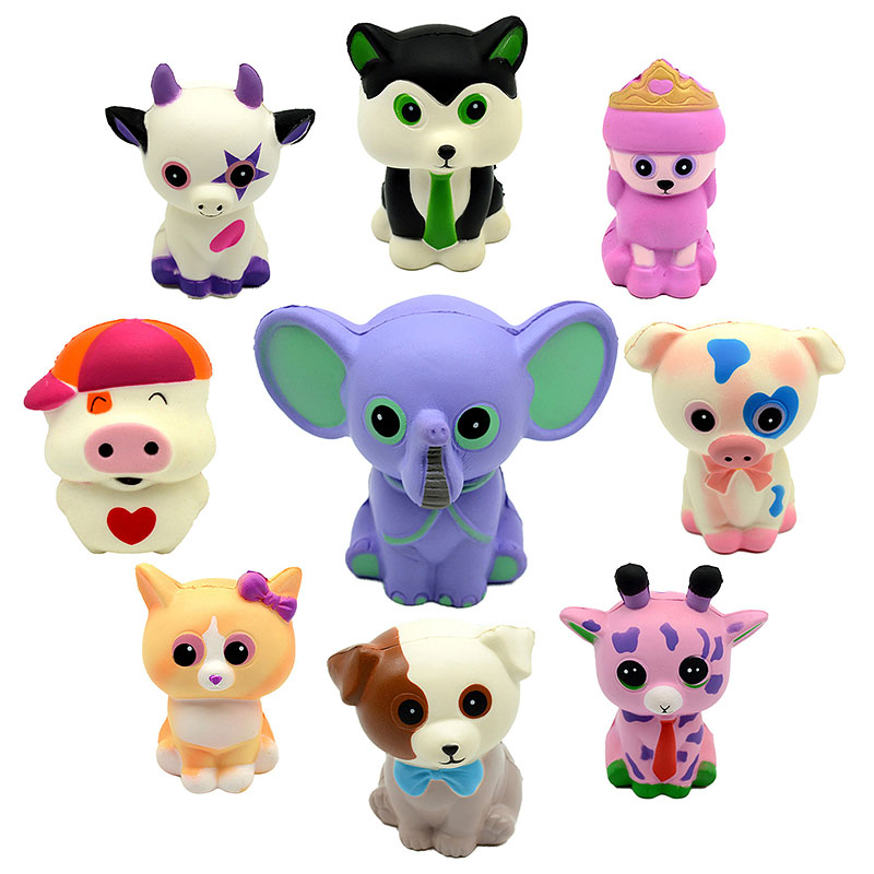 Hot Squishy Cute Kawaii Cartoon bear Animal series Squeeze Toys Novelty Antistress Gift Pendant