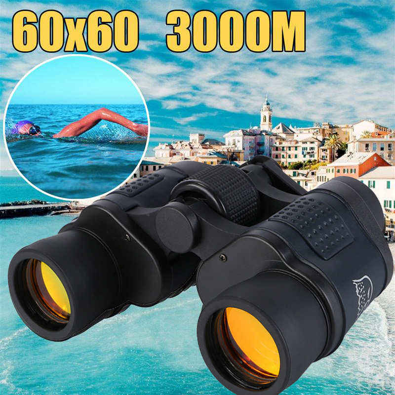 Telescópio 60x60 hd binóculos de alta clareza 10000 m alta potência para a caça ao ar livre visão noturna lll zoom fixo binocular óptico