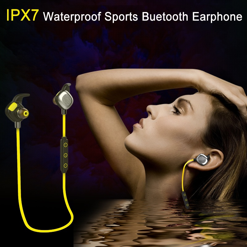 AINGSLIM Magnetic Headset Waterproof IPX7 Wireless Bluetooth 4.1 Earphone Sport Sweatproof Headphone for iPhone Android phone mini style wireless bluetooth earphone v4 1 sport headphone phone bluetooth headset with micro phone for iphone android bt023