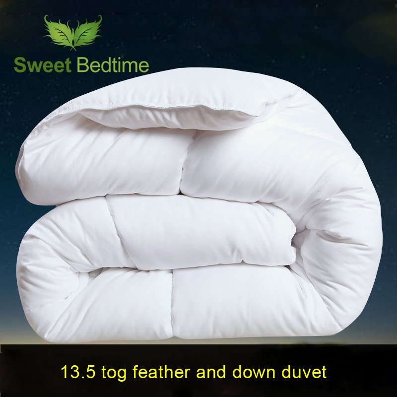 Home 13 5 Tog White Duck Feather And Down Duvet Insert