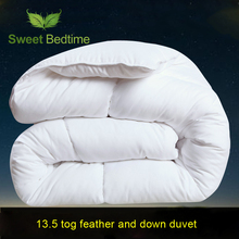 home 13.5 tog white duck feather and down duvet insert winter double warm quilts core European size twin queen king duvet inner