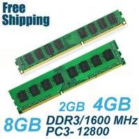 High Quality Memory Ram PC3 12800 DDR3 1600Mhz 8GB 4GB 2GB For Desktop Memoria PC3 10600