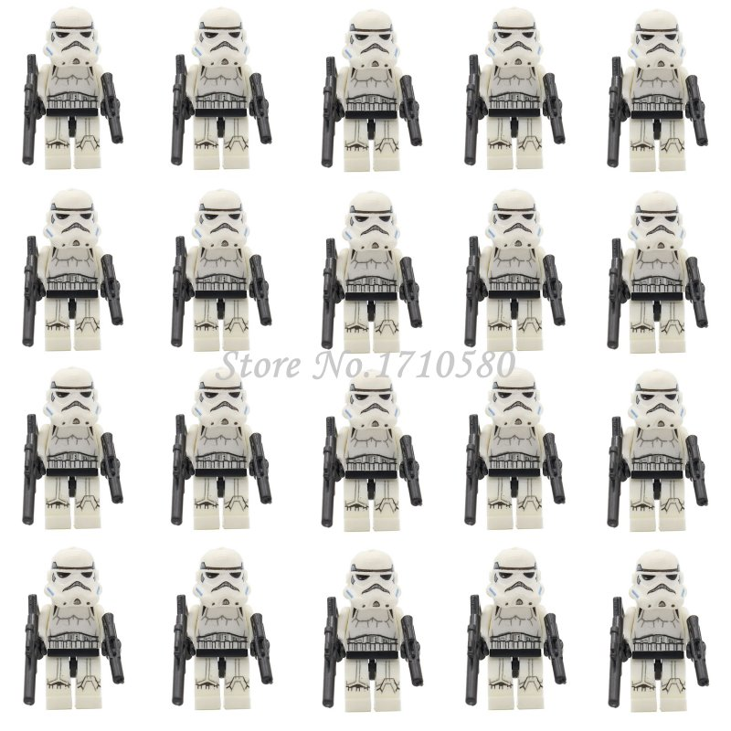 <font><b>Star</b></font> <font><b>Wars</b></font> <font><b>Mini</b></font> <font><b>Figure</b></font> 20pcs/lot <font><b>Clone</b></font> <font><b>Trooper</b></font> Stormtrooper Darth Vader Yoda Obi Republic Solider Building Blocks Toys