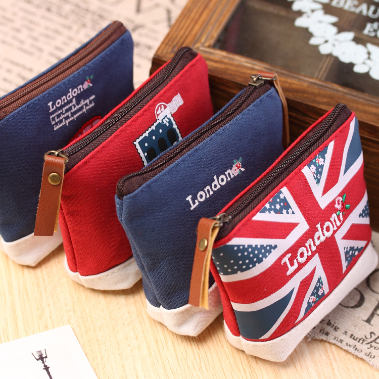 Lovely Cartoon Sewing London Bus England Flag Soldier Stamp Fashion Stationery Coin Purse Key Bag Zipper Wallet Make Up Pouch кошелек empreinte w40 bus fashion