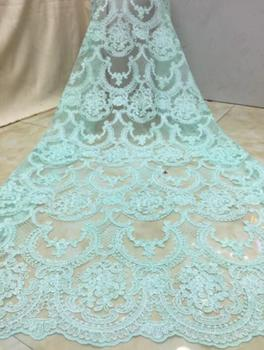 luxury flower french net lace fabric with sequins ZH-102410 french embroidered lace with super quality