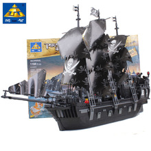 2016 Hot Sale Kazi KY87010 Black Pearl 1184pcs Building Block Pirates Of The Caribbean Ship Assembling Toys Original Movie Legoe