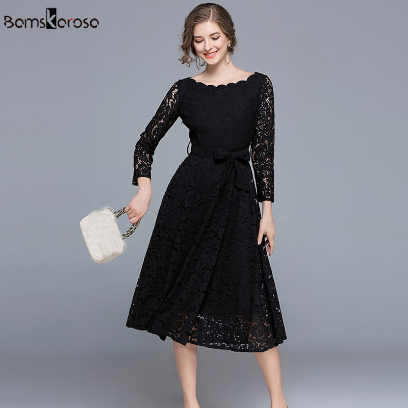 9af1b5ba37 Vintage Dress Women Elegant White Lace Dress Black Evening Party Dresses  Female vestido de noite vestido de noche Long Dresses-in Dresses from  Women's ...