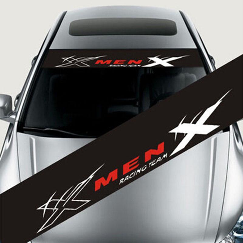 Adesivos de carro 130x21cm reflexivo decoração decalques estilo do carro moda frente traseiro pára decalque adesivo auto decalques removível