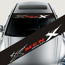 Autocollants décoratifs réfléchissants pour voiture, décalcomanies pour pare brise avant et arrière, à la mode de la voiture, décalcomanies automatiques amovibles, 130x21cm
