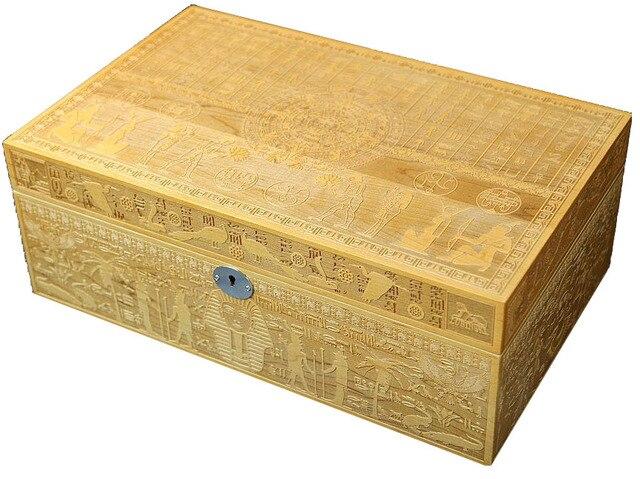 Aktualne Iubinskl z drewna cedrowego pudełko do cygar, egipt wykwintne wzór VW18