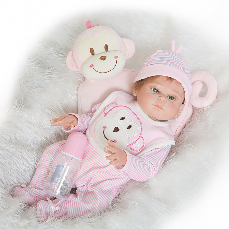 New Arrival Full Silicone Body Reborn Babies Doll Toys 50cm Newborn Girl Baby Doll Kids Birthday Gift Bathe Toy new arrival baby toys electronic airplane toy with light music sounds kids educational learning toys plane toy birthday gift