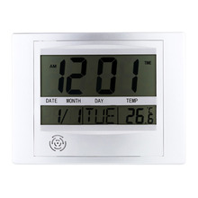 Electric Wireless Digital LCD Display Desk Clock Wall Clock Thermometer Weather Station Indoor Temperature Desk Clock