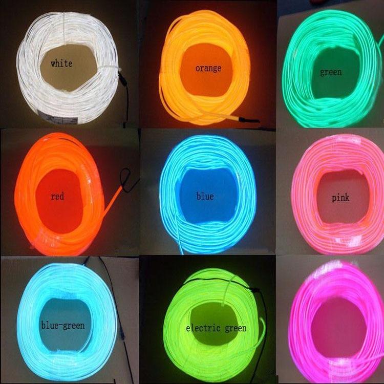 Neon licht 1 5 mt el draht licht flexible neon führte schlauchlampen ...