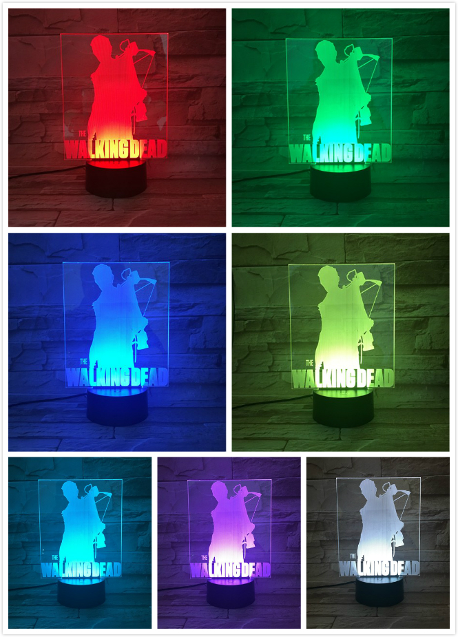 Movie The Walking Dead Table Lamp Bedroom USB Touch Sensor Room Decorative Lamp Birthday Holiday Festival Gift LED Night Light in LED Night Lights from Lights Lighting