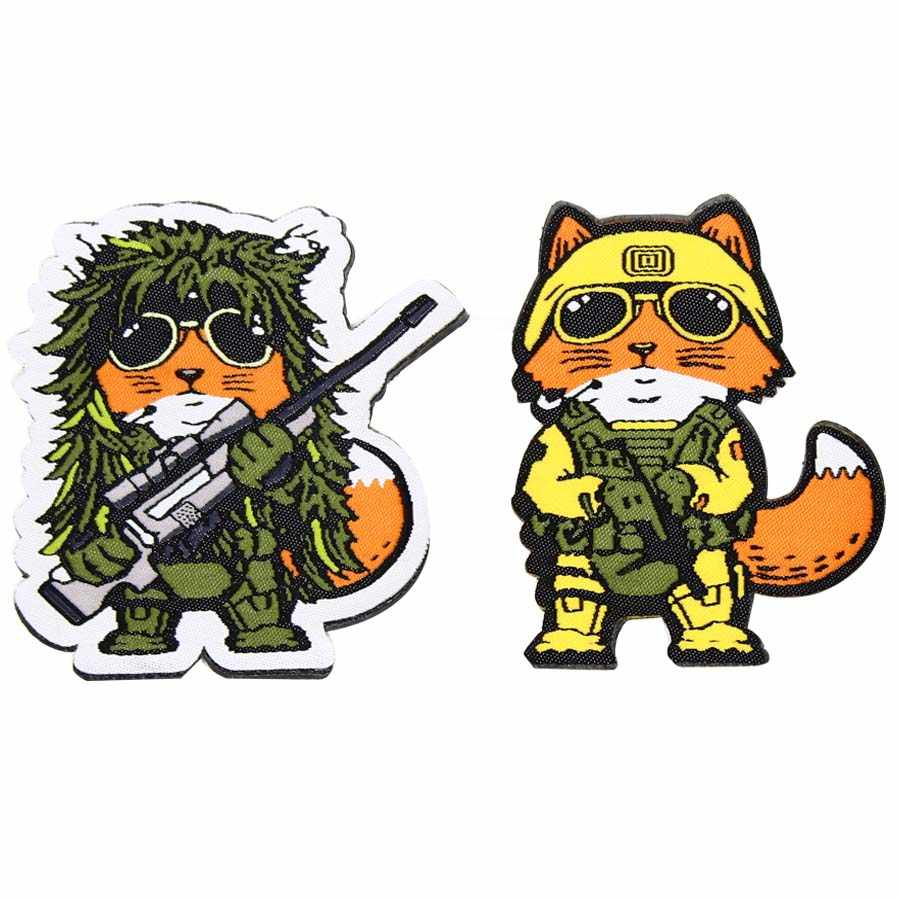 Taktis Sniper Fox Patch Polisi SWAT Taktis Moral Patch Lencana