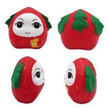 14CM Creative Red Strawberry Fruit Scented Bakery Decoration PU Simulation Slow Rebound Childrens Toys