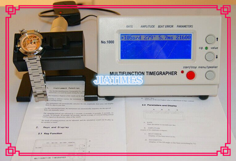 Free Shipping 1pc Mechanical Watch and Pocket Weishi Watch Timing Machine Multifunction Timegrapher NO 1000