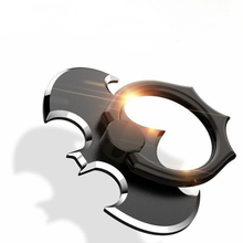 New 360 Rotation Batwing Finger Ring Sticky Smartphone Metal Holder Stand Mount Bracket Fidget Spinner For Phone Tablet