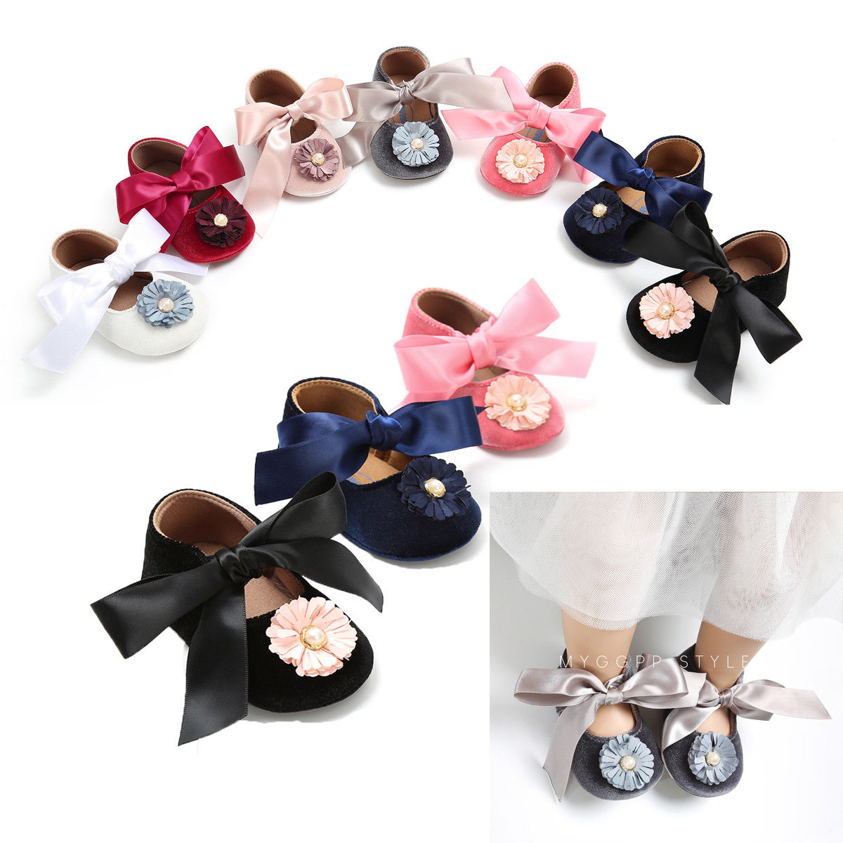 Stylish Summer Toddler Baby Shoes Newborn Girls Soft Soled Casual Cotton Princess Striped Crib Shoes Prewalker One Pairs Floral