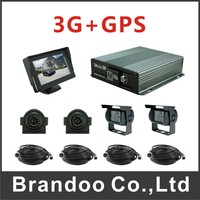4CH 720P 3G MDVR With 2pcs Side View Camera And 2pcs Rear View Camera Free CMS