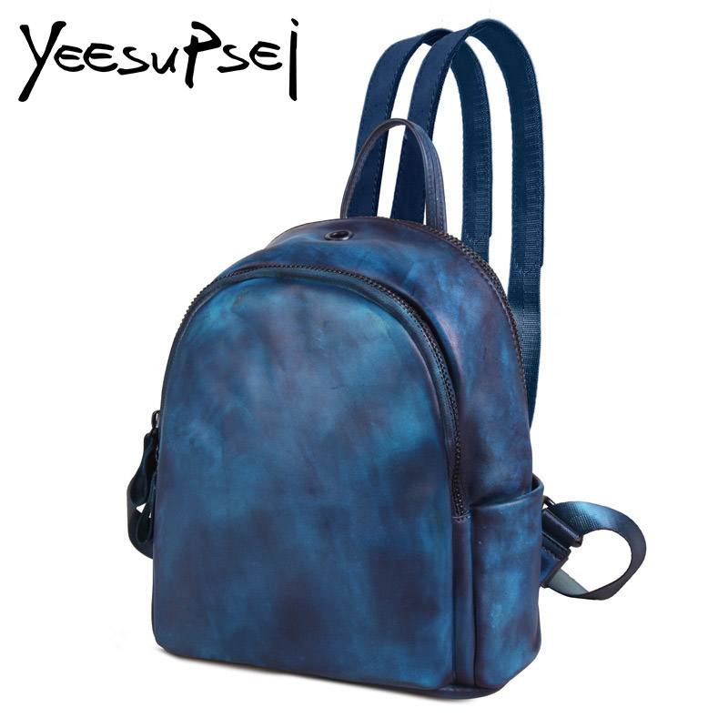YeeSupSei Casual Women Small Solid Backpack Leather Fashion Preppy Style Bookbag Teenager Student Backpack Female Travelling BagYeeSupSei Casual Women Small Solid Backpack Leather Fashion Preppy Style Bookbag Teenager Student Backpack Female Travelling Bag