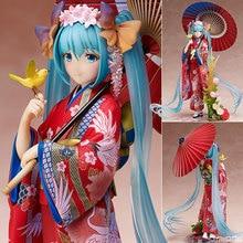 Japan Anime Hatsune Miku Figure Kimono Miku PVC Action Figure Collectible Kids Toys Model Doll kawaii Brinquedos Juguetes 20CM