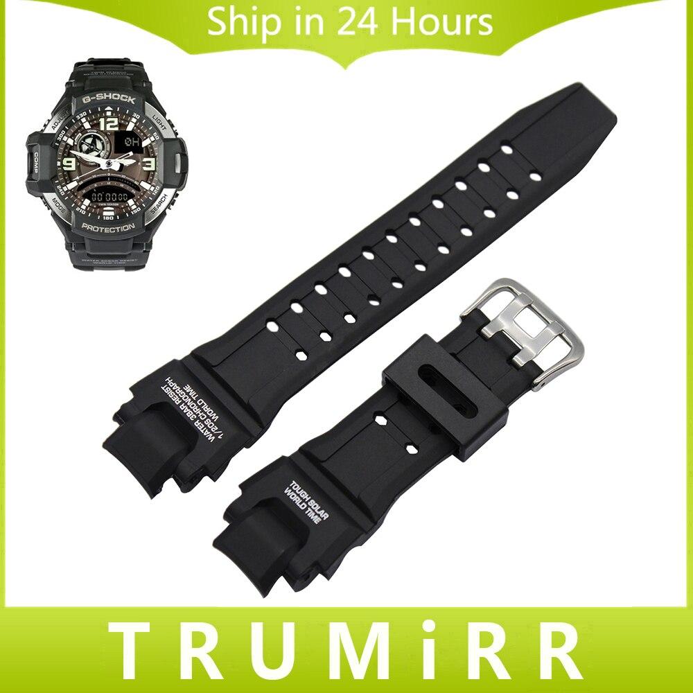 Prix pour Silicone en caoutchouc bande de montre 22mm x 27mm convexe sangle pour casio g-shock g-1400 ga-1000 gw-4000 gw-a1000 gw-a1100 poignet bracelet