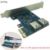 PCI E 1 Turn 2 PCI Express 1X Slots Riser Card Mini ITX Turn External 3