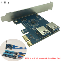 PCI E 1 Turn 2 PCI Express 1X Slots Riser Card Mini ITX Turn External 3