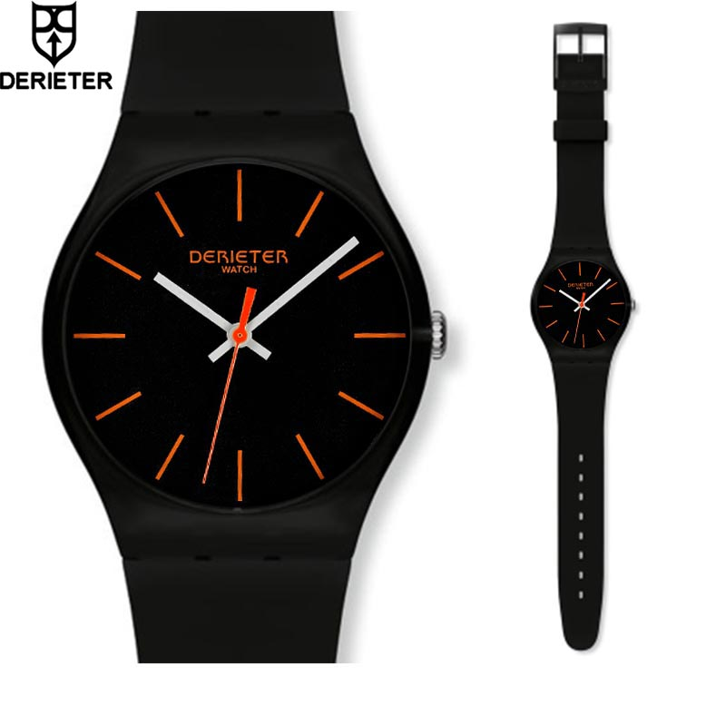 Fashion Unisex Silicone Watch Men Women Waterproof Environmental Quartz Ladies WristWatch Stainless Steel Buckle Montre Femme