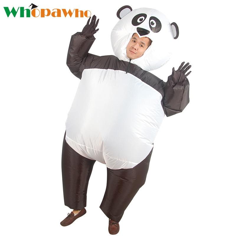 Halloween Costumes for Women Inflatable Panda Costume Panda Mascot Cosplay Fanny Party Dress