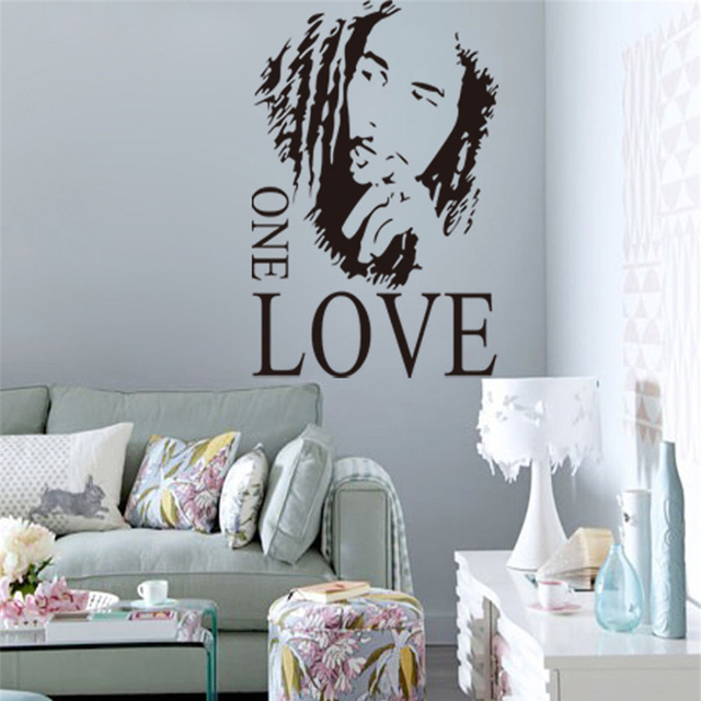 "Bob Marley ""One Love"" Removable Wall Sticker"