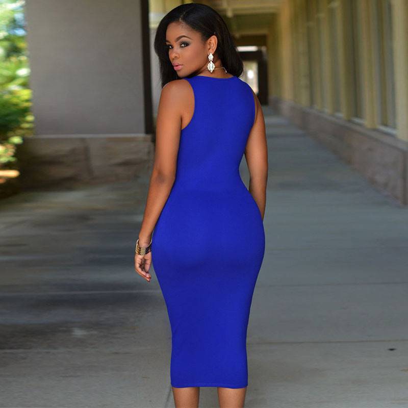 05083583c3f8 New Arrival 2016 blue Sleeveless Turtleneck Lace Stitching Mint Casual  Women Dress Party Summer Dress Slim vestidos de festaUSD 20.40 piece