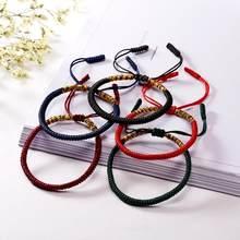 Rinhoo vintage tibetano budista amor sorte charme tibetano pulseiras & bangles para mulher masculino artesanal nós corda budda pulseira