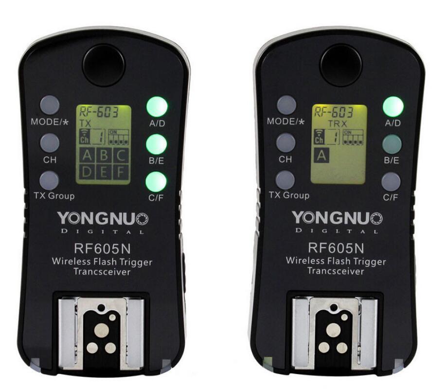 YONGNUO RF-605N RF-605 RF605 Déclencheur Sans Fil avec ÉCRAN LCD Pour Nikon D7100 D7000 D5200 D5100 D5000 D3200 D3100 D3000 D800