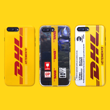 Simple Brand English Dhl Logo Phone Cover Case For Iphone X 11 pro Xs Max Xr 10 8 7 6 6s Plus Luxury Soft Silicone Couple Coque