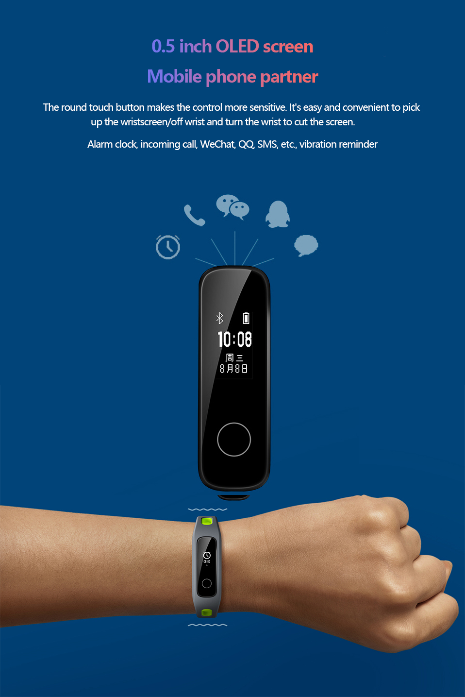 Presale Original Huawei Honor Band 4 Running Version Touchscreen Smart Wristband (14)
