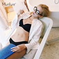 Underwear  style high quality satin basic bra set