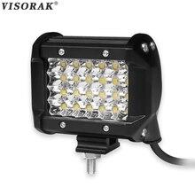 VISORAK 4 inch 72W Spot LED Work Light Bar 12V 24V Offroad LED Beams Car Truck SUV ATV 4X4 4WD Trailer Pickup Driving LED Lamp