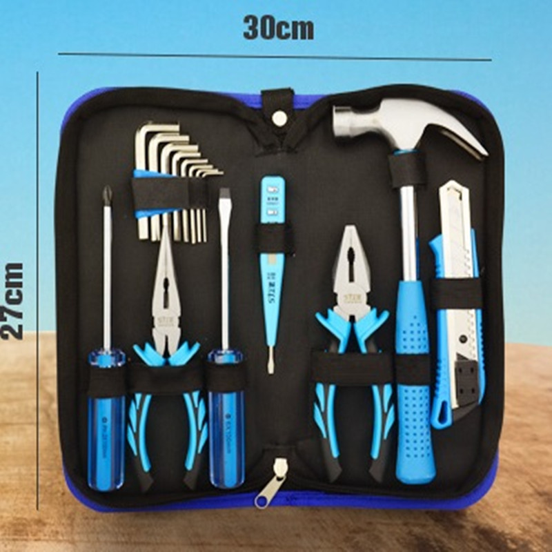 16Pcs Hand tool Set  Home Tool Kits Tools,general householder hand set ( Pliers Screwdrivers Wrenches Tapes)