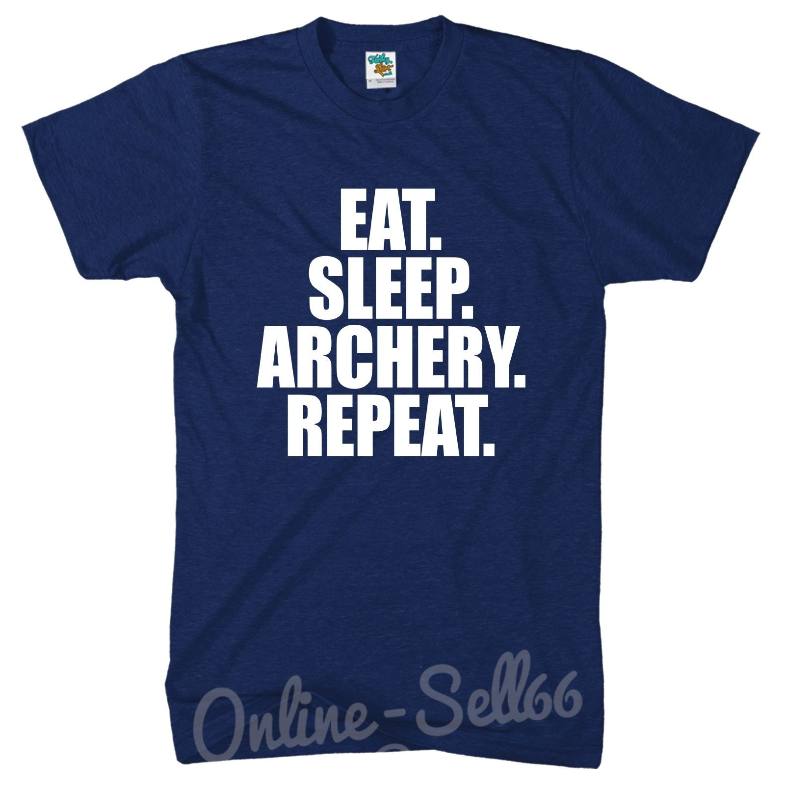 Eat Sleep Archery Repeat Mens Bow Tshirt Arrow Top Train t Shirt