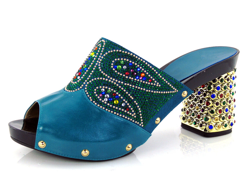 ФОТО guaranteed quality African sandals for party,beautiful ladies shoes with rhinestones!! HBQ1-37