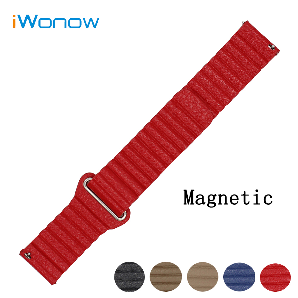 Genuine Leather Watch Band 20mm for Samsung Gear S2 Classic R732 / R735 Magnetic Buckle Strap Quick Release Wrist Belt Bracelet excellent quality 20mm quick release watch band strap for samsung galaxy gear s2 classic stainless steel strap bracelet