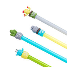 1 Pcs Stationery Creative Cactus Potted Neutral Stylus Students Use Full-needle Water Pen Kawaii School Supplies Pen for Writing(China)