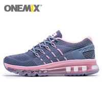 2017 Onemix Men Unique Shoe Tongue Running Shoes Breathable Air Mesh Sport Trainers Female Athletic Outdoor
