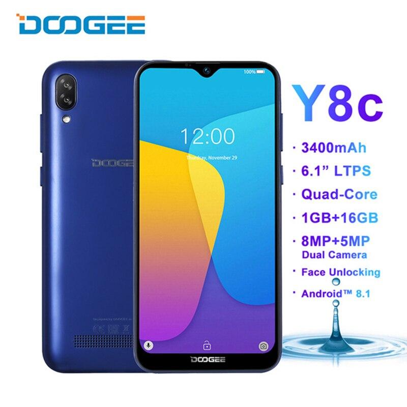 DOOGEE Y8C Android 9 0 Mobile phone 6 1inch 19 9 Waterdrop Screen MTK6580 1GB 16GB