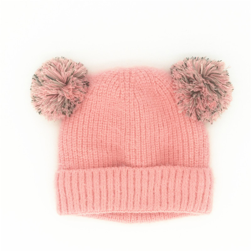 Pink 1 Pcs Baby Winter Hat Knit Warm Cap with Diamond Beanie Hat for Baby Toddler Girls Boys