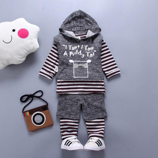 e809d6a09 2019 Autumn Boys Girls Clothes Suits Cartoon Baby Kids Hoodie cow Vest  T-shirt Pants